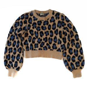 Aritzia Sunday Best Kitten Sweater Leopard Print